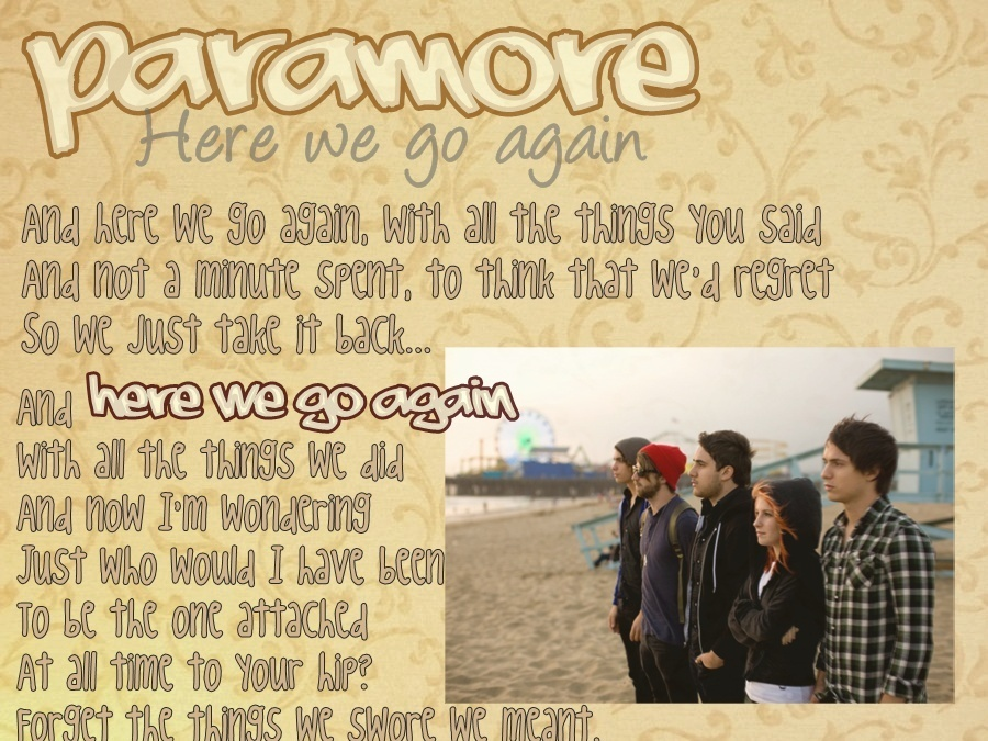 wallpaper paramore. Here we go again Wallpaper