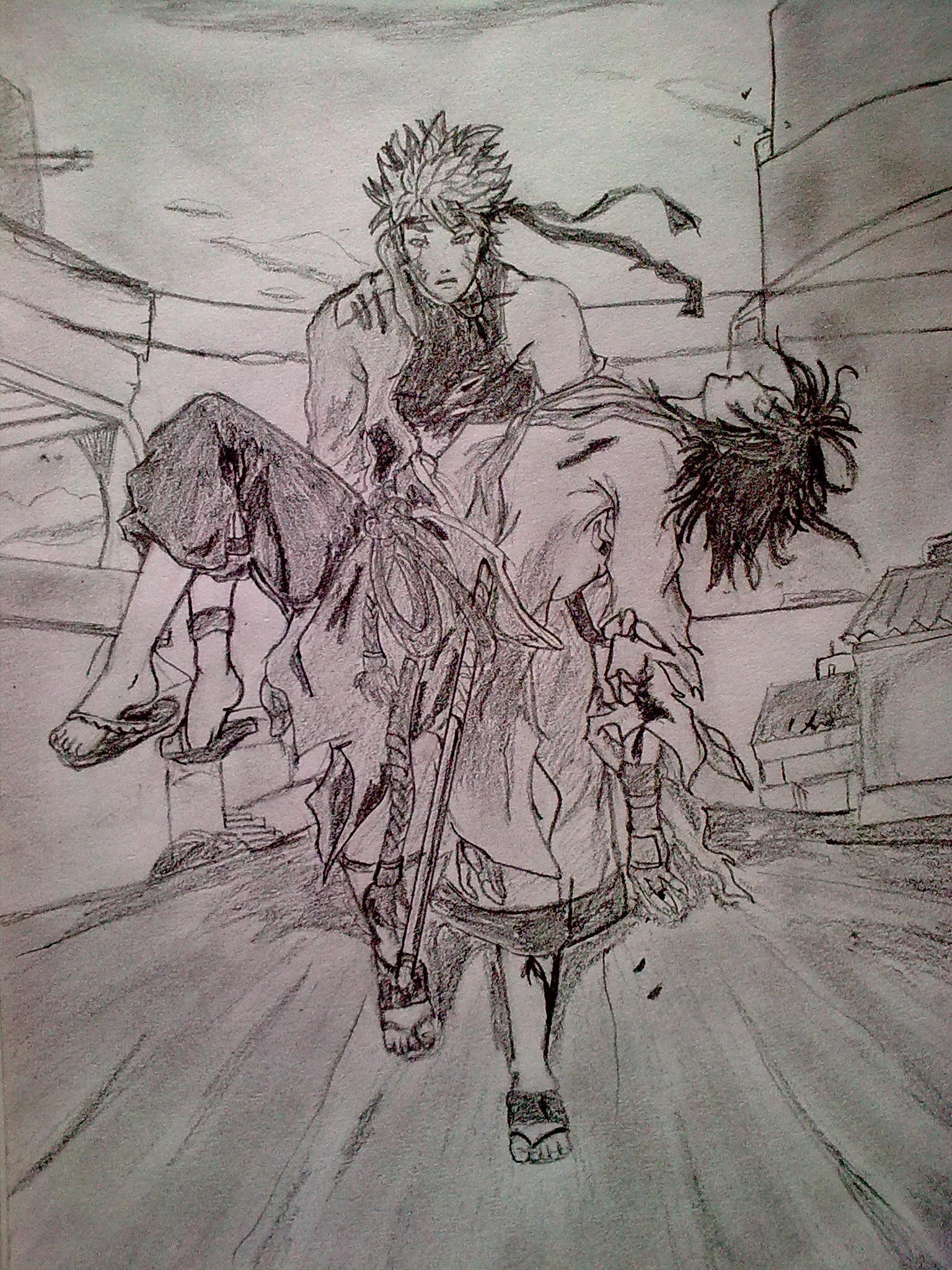 Its my 1st black and white naruto drawing what do u guys
