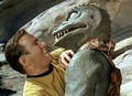 Kirk fighting Gorn