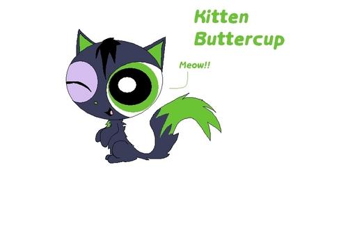 Powerpuff and rowdyruff animals wallpaper called Kitten Buttercup