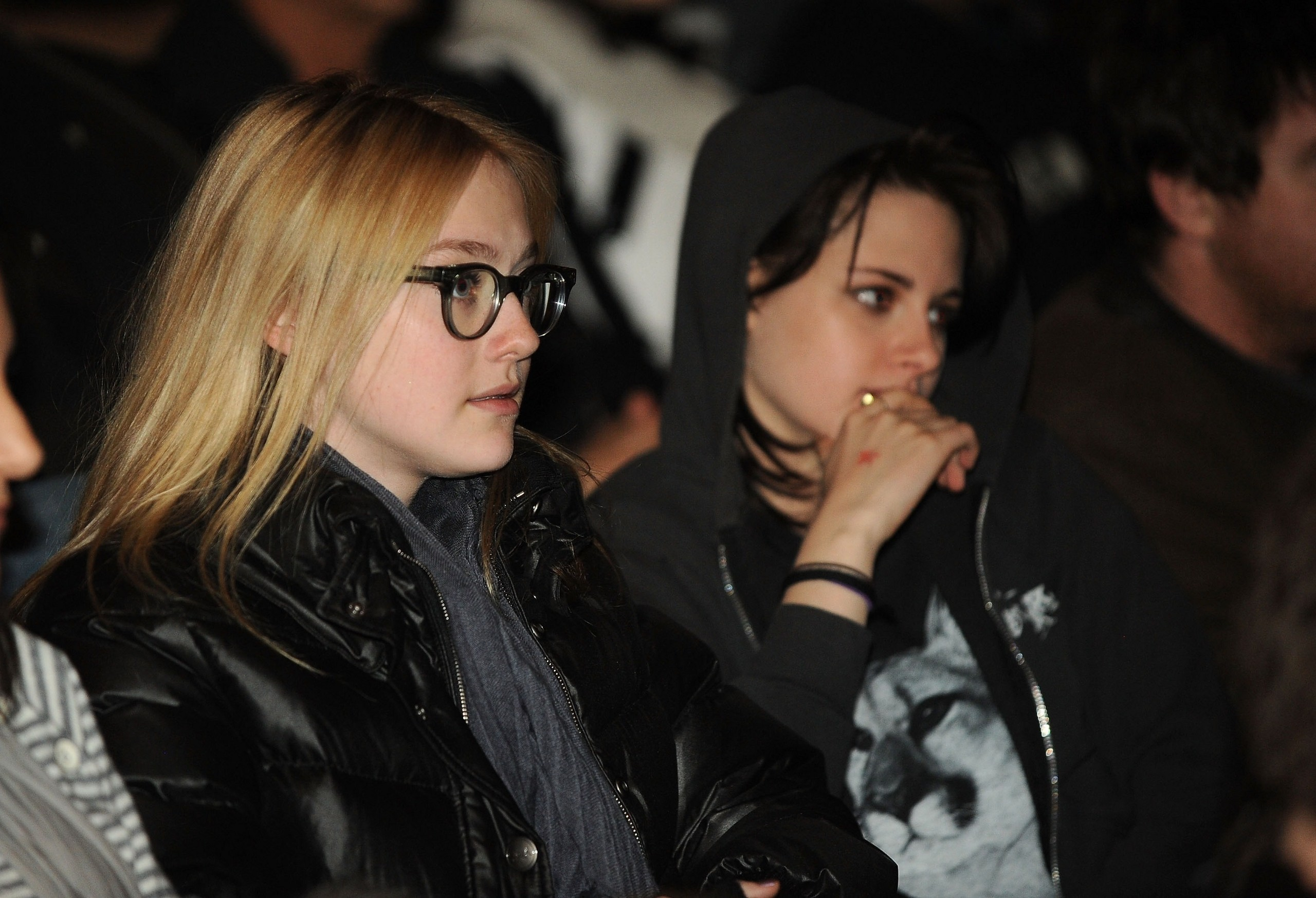 Kristen and Dakota inside the premiere
