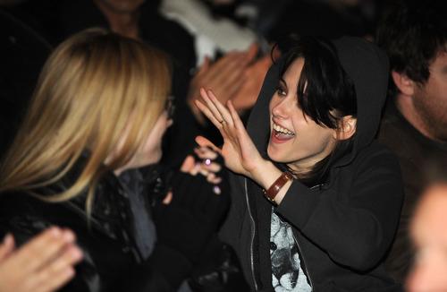 Kristen and Dakota inside the premiere