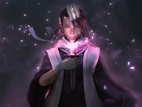 Kuchiku Byakuya Render