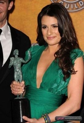 Lea @ 16th Annual SAG Awards (With Award)