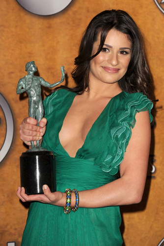 Lea Michele @ the SAG awards 2010