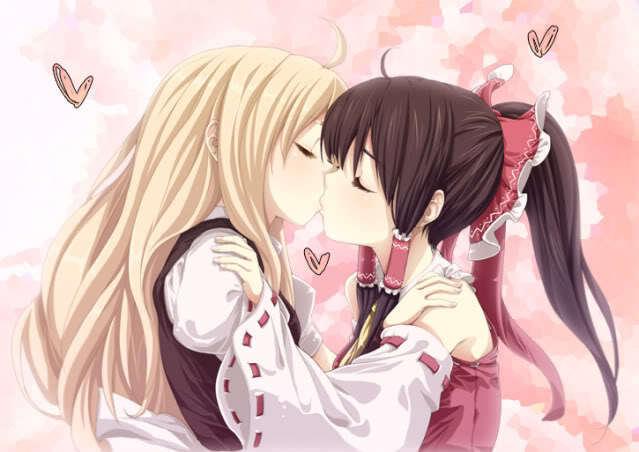 Lesbian/Bisexual anime Art