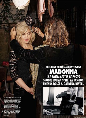 madonna in Hello Magazine (UK)