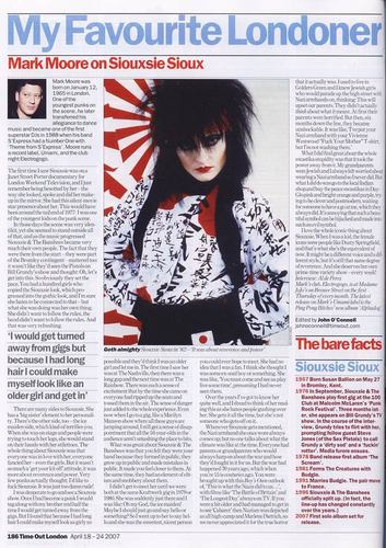 Mark Moore on Siouxsie Sioux (article)