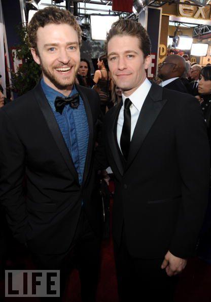 Matthew Morrison and Justin Timberlake @ the SAG awards 2010