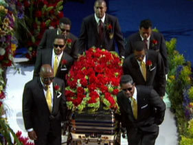 Michael Jackson's funeral :( RIP