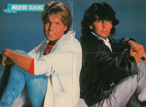 Modern Talking achtergrond titled Modern Talking