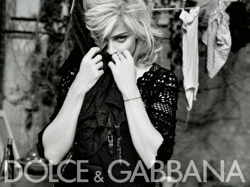 plus Madonna for Dolce & Gabbana Promo Pictures