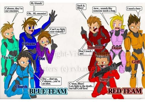 Red vs blue- unhelmeted-ted...