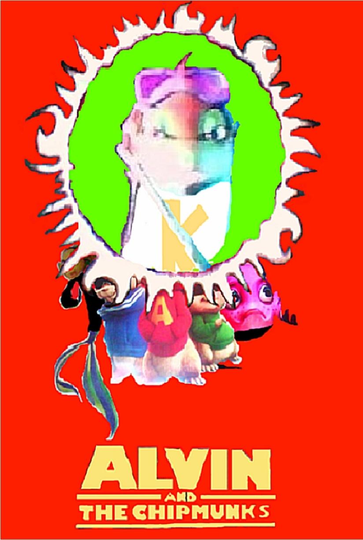 Riplines Alvin and the chipmunks wolpeyper w/Oscar,Orca & Knuckles