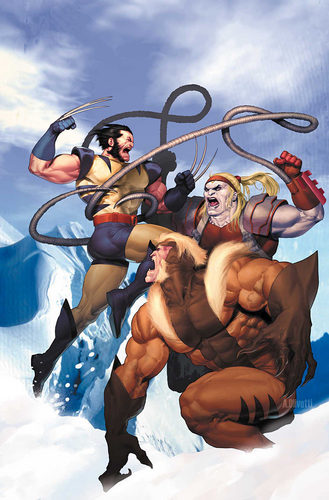 Sabretooth , Wolverine and Omega Red