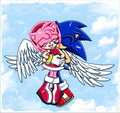 Sonamy Angel - sonic-and-amy fan art