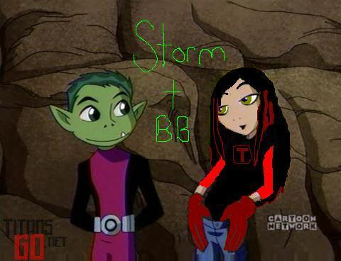 Storm and BB! My teen titans charater.