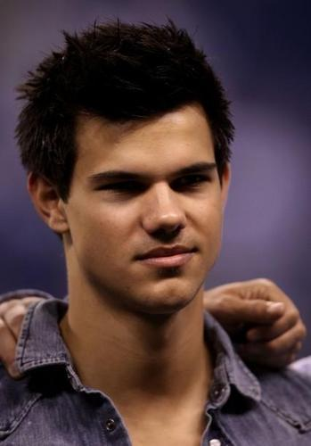 Taylor Lautner At The AFC Championship Game