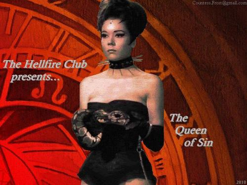 Diana Rigg kertas dinding entitled The Hellfire Club presents...
