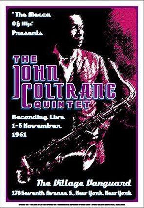 The John Coltrane Quintet (show poster)