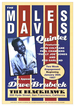 Jazz wallpaper called The Miles Davis Quintet (show poster)