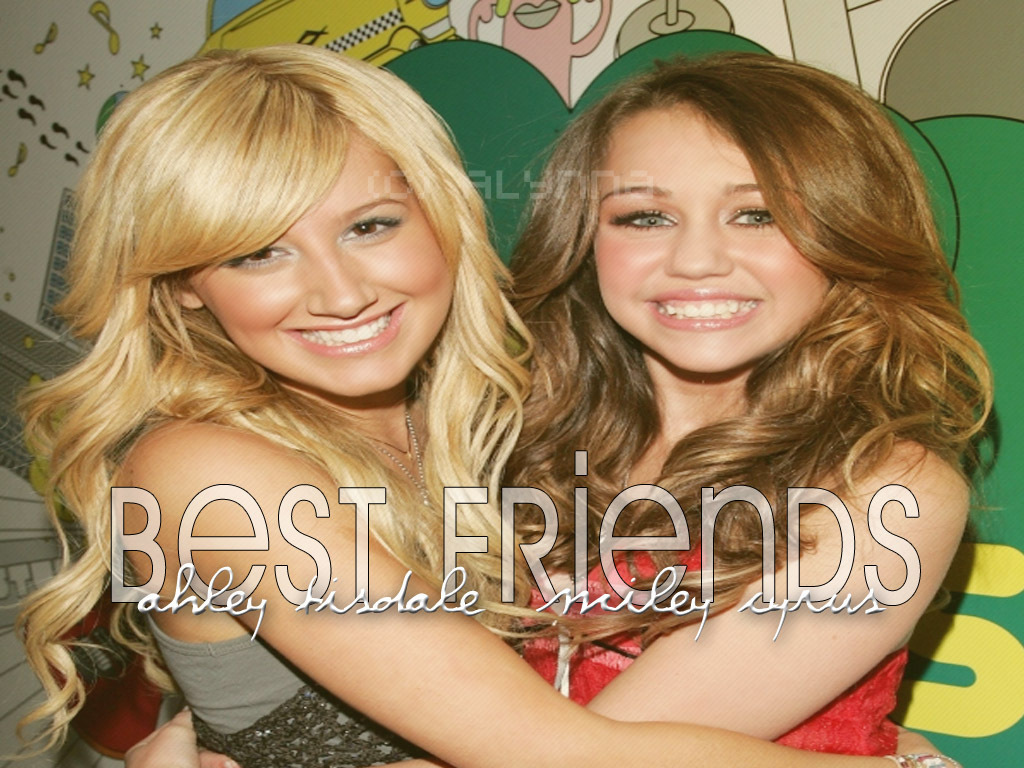 ashley tisdale and miley cyrus best friends wallpaper