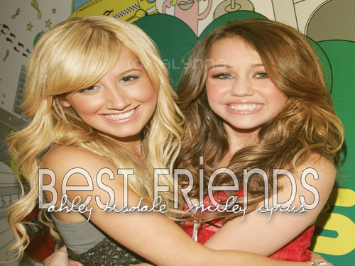 ashley tisdale and miley cyrus best Friends fond d'écran