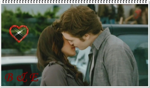 image in HD of bella and edward Kiss