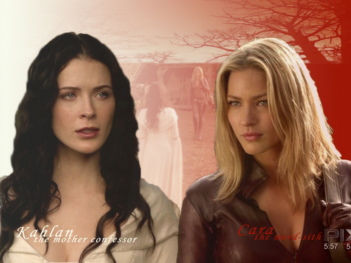 kahlan/cara - legend-of-the-seeker Wallpaper