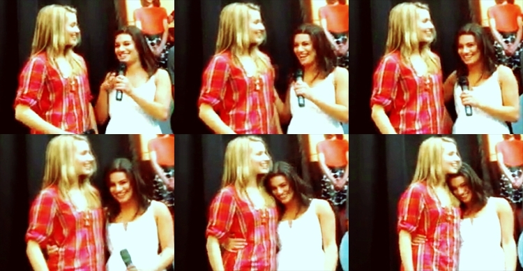 Dianna Agron and Lea Michele i love dianna agron.