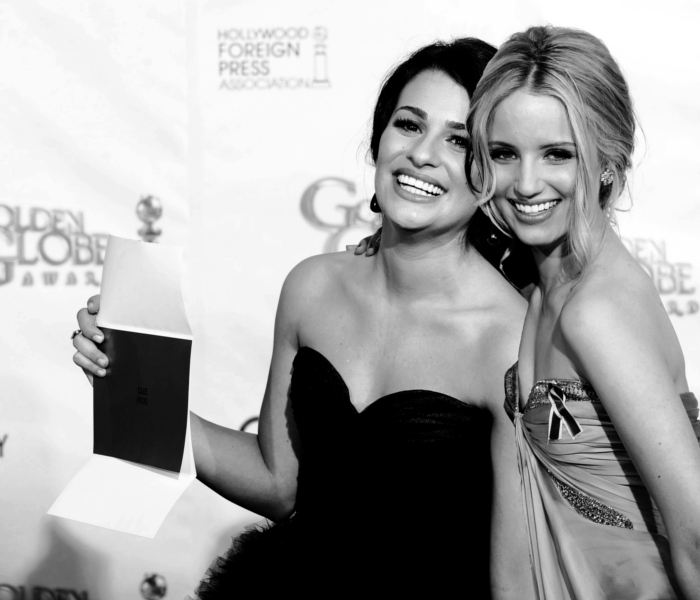 Dianna Agron and Lea Michele