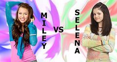 Miley Cyrus vs. Selena Gomez 壁纸 titled m-s