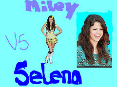Miley Cyrus vs. Selena Gomez wallpaper titled miley vs selena