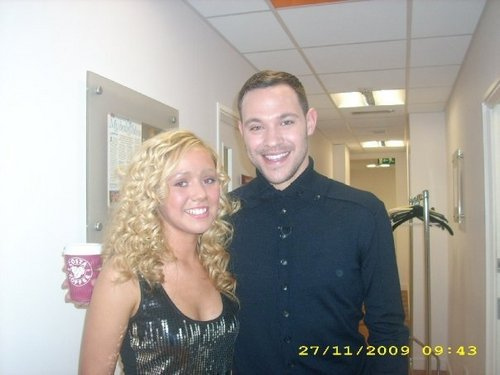 model sophie brown at gmtv with will young