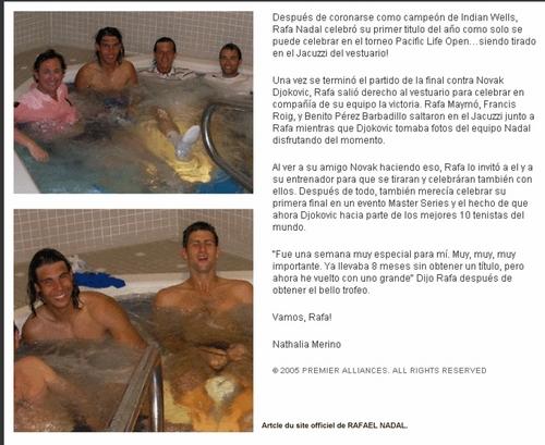 rafa bath and novak
