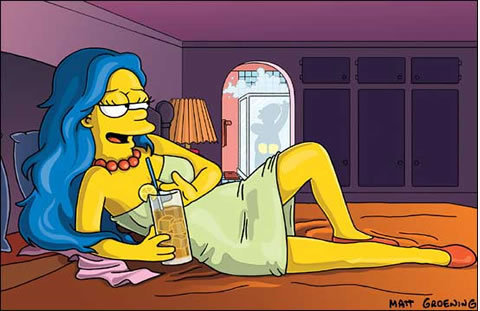 os simpsons wallpaper titled sexy marge