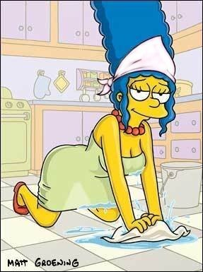 The Simpsons kertas dinding entitled sexy marge