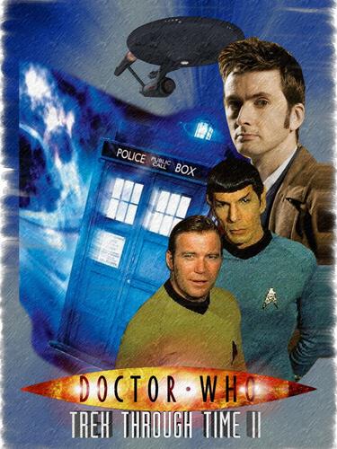 nyota Trek crew meets Doctor Who