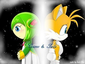 Tails and Cosmo wallpaper entitled tails and cosmo