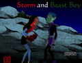 *Request for dramalyric* Storm and Beast Boy