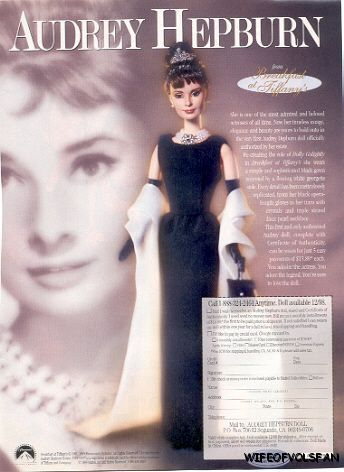Ad for Audrey Hepburn doll