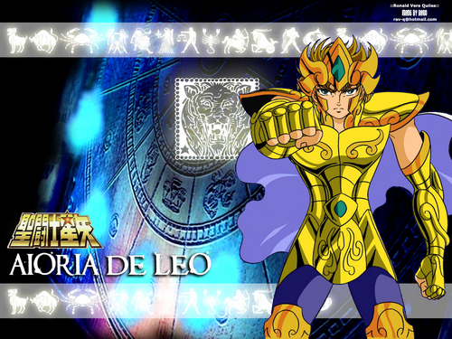 Saint Seiya (Knights of the Zodiac) fondo de pantalla called Aioria the Leo