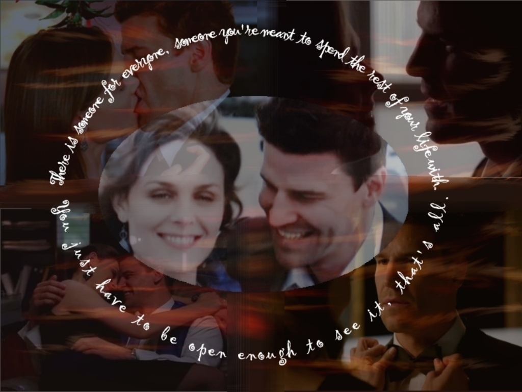 Booth & Brennan - bones wallpaper