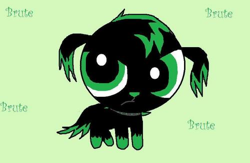 Powerpuff and rowdyruff animals wallpaper titled Brute Pup