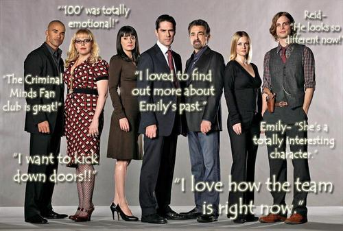 Colette's Criminal Minds FOTM Interview Quotes!