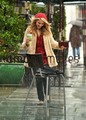Dianna Agron Caught In The Rain in Los Angeles - glee photo