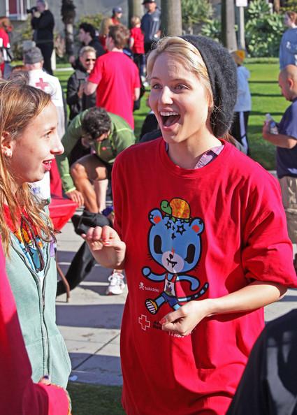 Dianna taking part in Youth Run 4 Haiti In Santa Monica