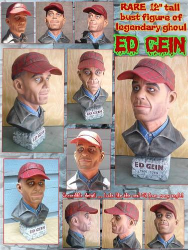 Serial Killers Hintergrund entitled Ed Gein bust