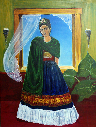 Frida in green velvet