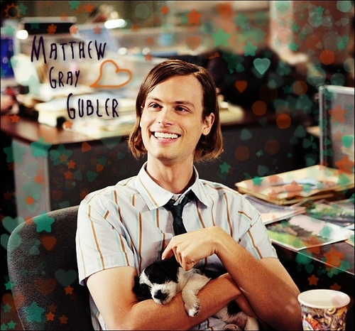 Gubler and a puppy ♥ - matthew-gray-gubler Fan Art